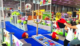 'Real Life' games such as the Angry Bird continues to attract many children. PICTURES: Joey Aguilar