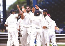 Rain intervenes after India land double blow