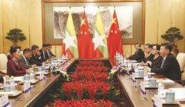 China's Xi pledges to support Myanmar talks