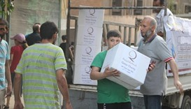 Qatar Charity distributes food baskets to 5,000 Aleppo families