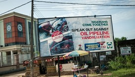 An advertising board in the City of Warri in the Delta State.