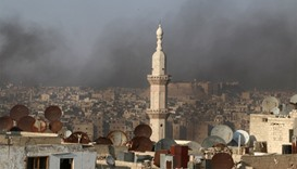 Russian strikes slow rebel assault in Syria's Aleppo