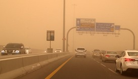 Dusty conditions, strong winds expected on Tuesday