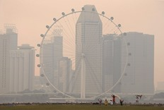 Singapore is shrouded in smog as haze returns