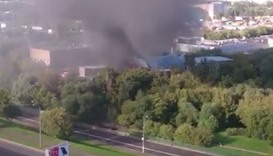 Moscow warehouse fire