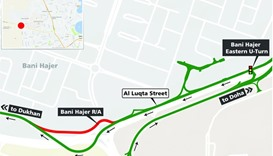 Traffic diversion near Old Bani Bajer roundabout