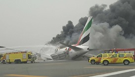 Footage from social media showing smoke billowing from the aircraft.