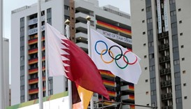 Qatari flag hoisted in Olympic Village in Rio de Janeiro