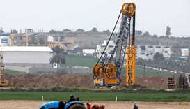Heavy machinery can be seen at work along Israel's border with the Gaza Strip