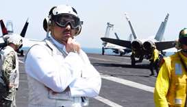 Defence Minister visits USS Nimitz