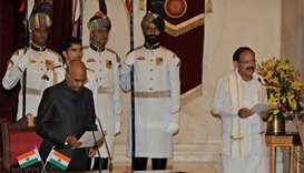 Venkaiah Naidu sworn in as India's vice president