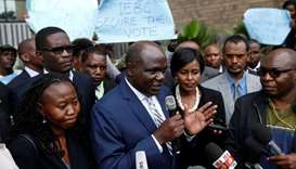Kenyan Independent Electoral and Boundaries Commission chairman Chebukati delivers a statement over