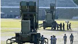 Units of Patriot Advanced Capability-3 (PAC-3) missiles which are deployed at the compound of the Ja