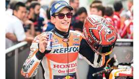 Marquez romps to pole in Austria