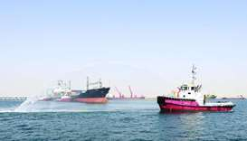 'Libra' under Pak-Gulf service makes debut call at Hamad port