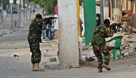 Somali security forces intervene after an attack