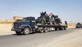 Iraqi armoured units headed for the town of Tal Afar, the main remaining Islamic State (IS) group st
