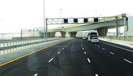 The southern part of the Doha Express Highway opens for traffic. PICTURE: Shemeer Rasheed.