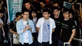 Three Hong Kong democracy leaders jailed for months