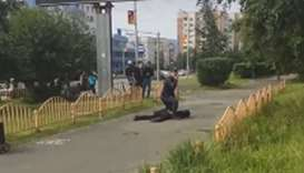 Eight people have been injured in a knife attack in the Russian city of Surgut