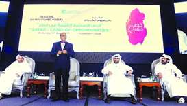 Doha Bank CEO Dr R Seetharaman moderates a panel discussion