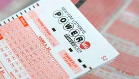 A ticket for the US lottery Powerball