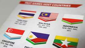 A copy of the SEA Games Opening Ceremony guidebook shows a misprinted Indonesian flag