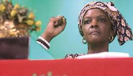In this file picture, Zimbabwe's first lady Grace Mugabe is seen at a campaign meeting in Harare.