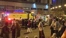 Makkah hotel evacuated after fire