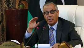 Libyan former Prime Minister Ali Zeidan during a press conference in the Libyan capital Tripoli. Fil