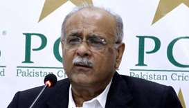 Chairman of the Pakistan Cricket Board (PCB) Najam Sethi