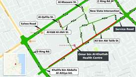 Ali bin Abi Talib Street closed in one direction for two days