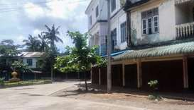 An empty street of Maungdaw township, in Myanmar's northern Rakhine state on August 25, 2017
