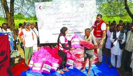 Nepal flood victims receive Qatar's relief aid