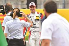 Schumacher's son Mick takes father's 1994 car for a spin