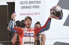 Dovizioso clinches British MotoGP
