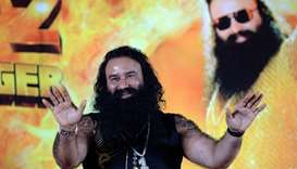 This file photo taken on September 8, 2015 shows Indian chief of the religious sect Dera Sacha Sauda