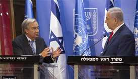 UN chief seeks 'dream' of Israeli-Palestinian peace