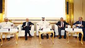 Dr Abdullah Baabood, QU Gulf Studies Centre director; Dr Shafeeq Ghabra, professor of political scie