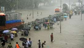 Monsoon rains bring India's financial capital to a standstill