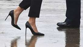 Melania Trump makes waves with 'storm stilettos'