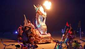Annual Burning Man arts and music festival in the Black Rock Desert of Nevada, US