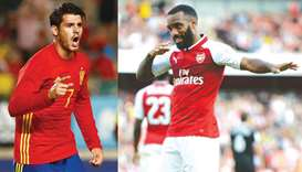 Lacazette, Morata in unexpected showdown
