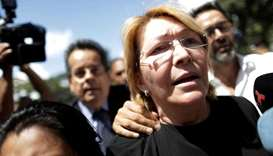 Venezuela's chief prosecutor Luisa Ortega Diaz is seen in front of the Public prosecutor's office in