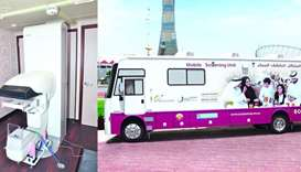 Mobile cancer screening unit celebrates first year of operations