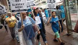 Protest to support domestic workers