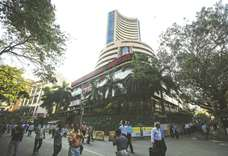 Sensex sheds 259.48 points; rupee strengthens to 63.64