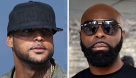 French rappers Booba (L) and Kaaris
