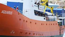 Aquarius ship arrives in Malta after migrant-sharing deal