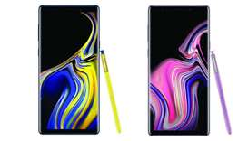 Galaxy Note9 will be available in Ocean Blue and Lavender Purple with matching S Pen